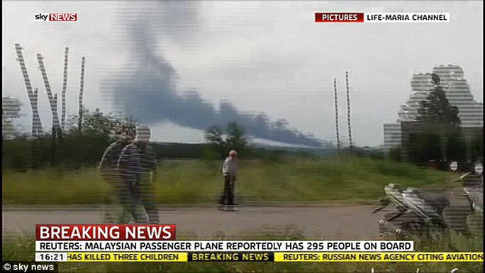 A Malaysian Airlines passenger jet is thought to have been shot down over the Ukraine / Russian border
