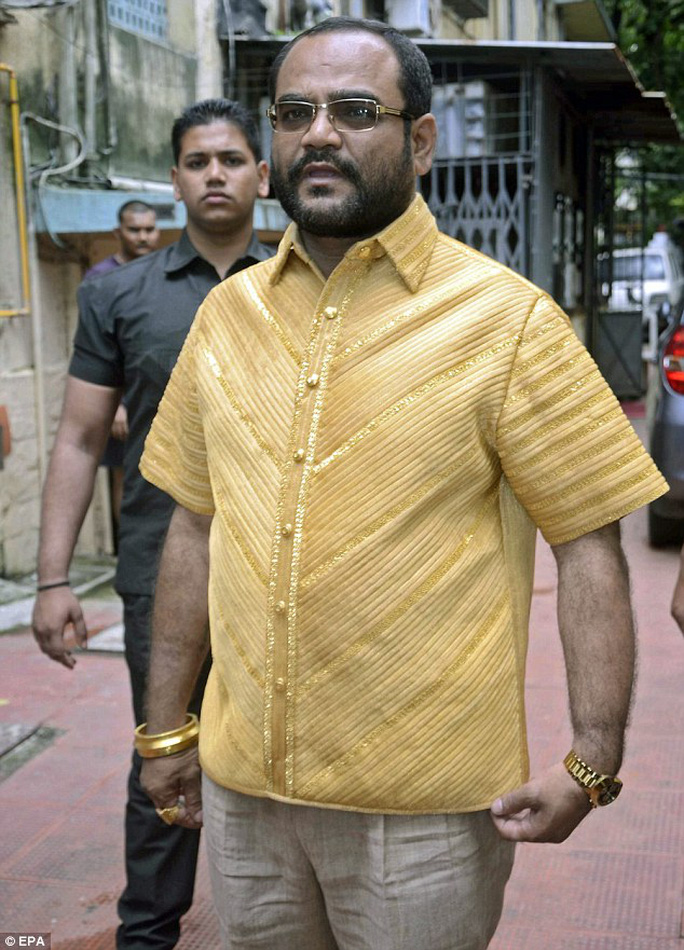 An Indian textile magnate who made a fortune from his clothing empire is making sure the rest of the world knows about his success - by having a shirt made out of pure gold
