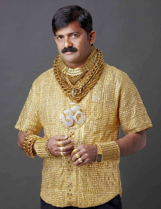 Last year wealthy Datta Phuge has splashed out £14,000 on a solid gold shirt to make sure hes a 24 karat hit with women in central India