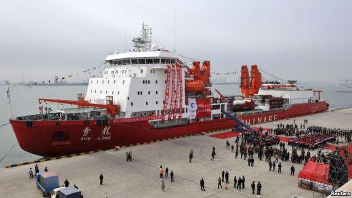 Tàu Tuyết Long của Trung Quốc. Ảnh: Reuters