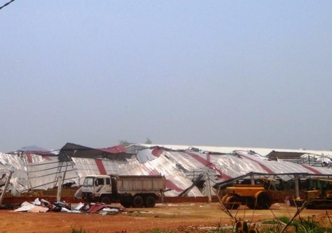 Một trận lốc xoáy kinh hoàng xảy ra trên địa bàn huyện Ngọc Lặc - Thanh Hóa trong năm 2013