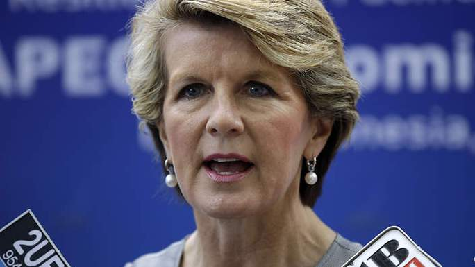 Ngoại trưởng Úc Julie Bishop. Ảnh: AAP