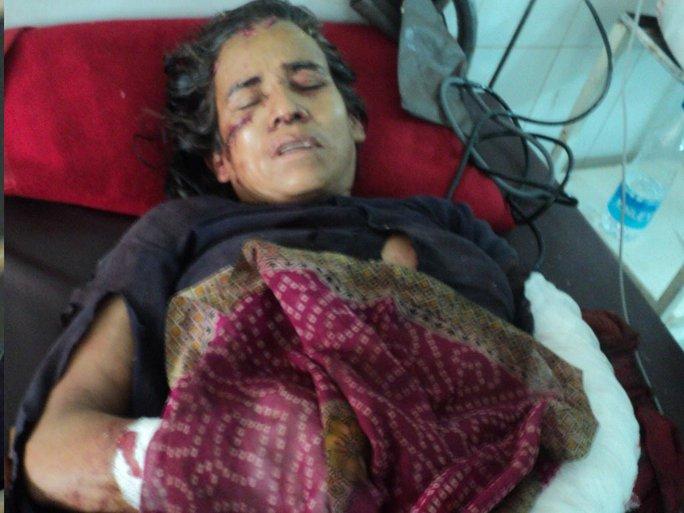 Bà Kamla Devi tại bệnh viện. Ảnh: Hindustan Times