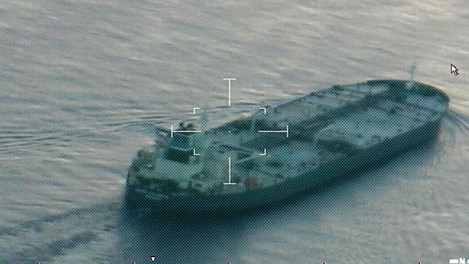Tàu chở dầu United Kalavyrta xuất hiện gần Galveston, Texas - Mỹ hôm 25-7. Ảnh: Reuters