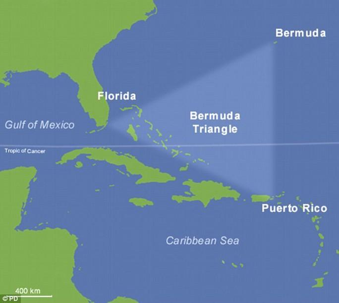 Bí ẩn Tam giác quỷ Bermuda từng làm đau đầu các nhà khoa học. Ảnh: Daily Mail