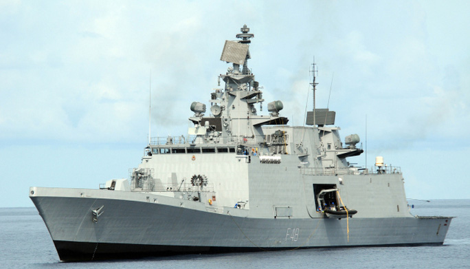 Shivalik class frigate. Locally built in India