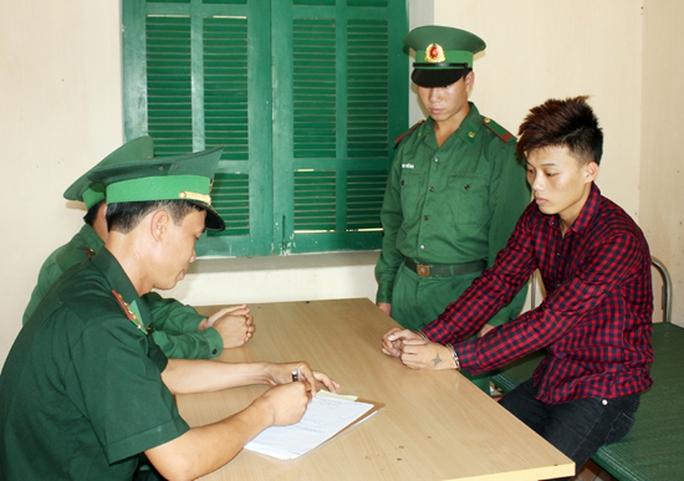 Đối tượng Triệu Văn Sú tại cơ quan điều tra.