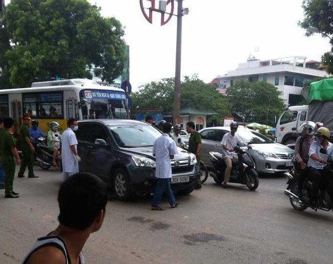 Chiếc Honda CRV sau khi lái xe bị đâm chết