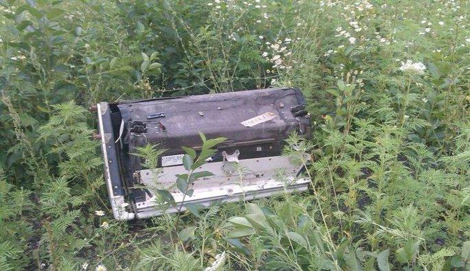Những gì còn sót lại của chiếc máy bay xấu số. Ảnh: TWITTER