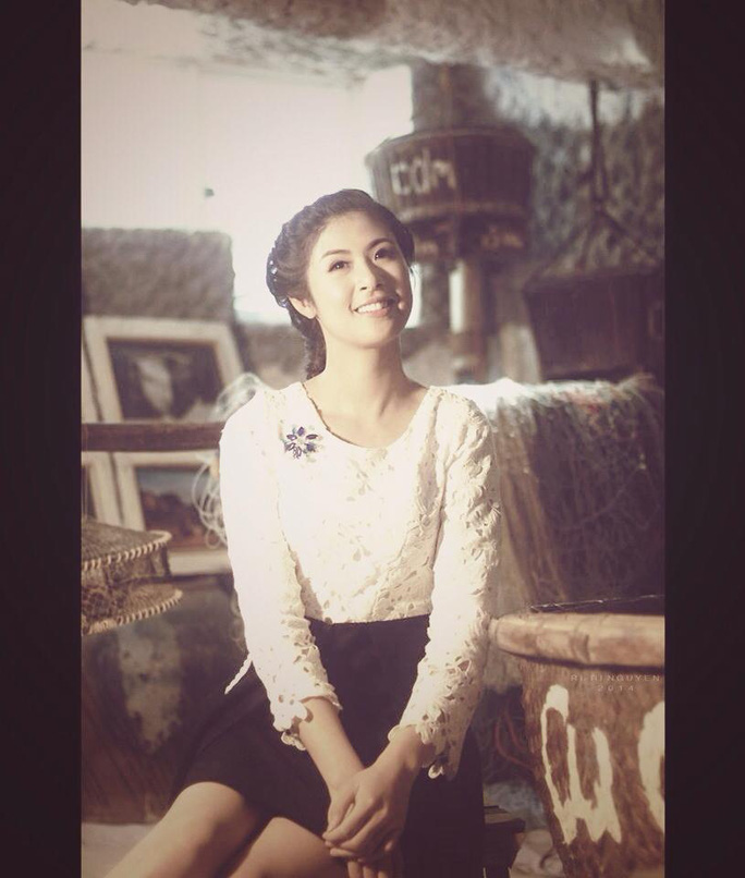 Hoa hậu Ngọc Hân chọn quán cà phê vì môi trường