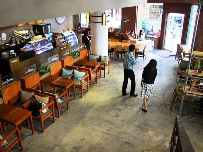 Một góc của quán Caffe Bene