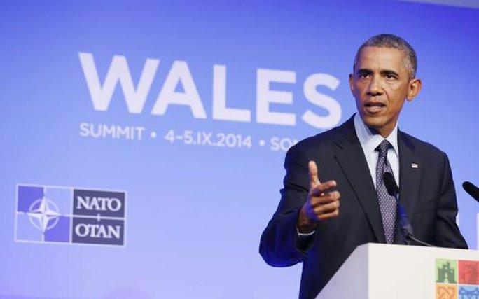 Tổng thống Obama phát biểu tại hội nghị NATO ở Wales hôm 5-9. Ảnh: Reuters