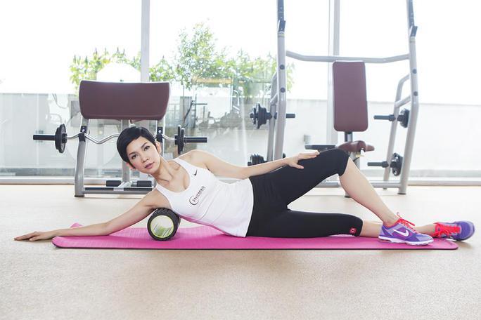 Cựu người mẫu vẫn luôn tập thể dục đều đặn để giữ gìn vóc dáng, đặc biệt là sau khi sinh con