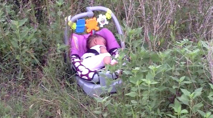 Đứa trẻ 8 tháng tuổi Genesis Haley bị bắt cóc sáng 23-6. Ảnh: NBC News