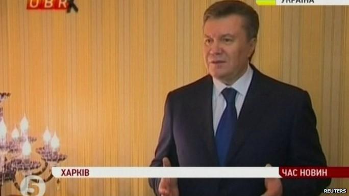 Tổng thống Yanukovych đã bị lật đổ. Ảnh: Reuters