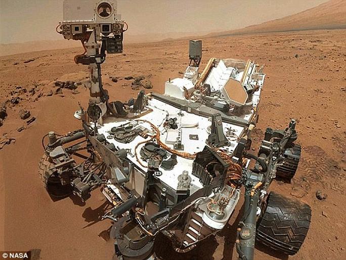 Tàu thăm dò tự hành trên sao Hỏa Curiosity. Ảnh: NASA