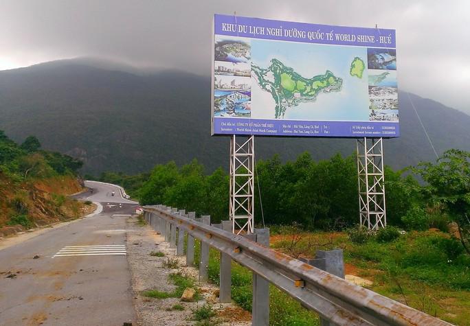 Vị trí triển khai Dự án Khu du lịch nghỉ dưỡng World Shine - Huế. Ảnh Quang Nhật