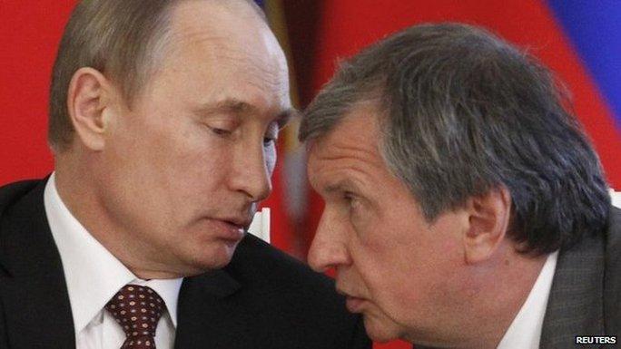 Trong số cá nhân bị Mỹ trừng phạt ngày 28-4 có ông Igor Sechin, đồng minh của Tổng thống Putin từ đầu những năm 1990. Ảnh: Reuters
