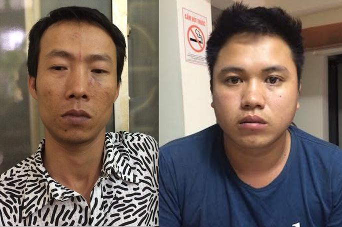 """Hai anh em Hà Văn Mười (trái) và Nguyễn Hữu Nhật (phải) là 2 """"sát thủ"""" đâm chết 2 thợ xây"""