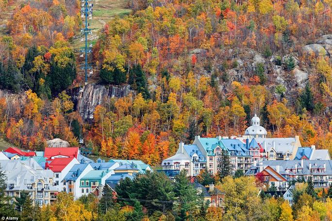 Vùng núi Laurentian ở Quebec - Canada.
