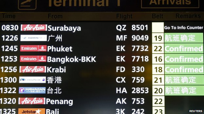 Máy bay hãng AirAsia của Malaysia mất tích