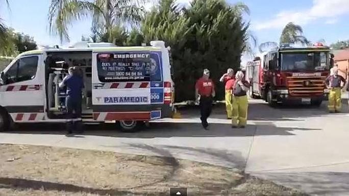 Lực lượng cứu hộ, cứu thương, y tế, tìm kiếm cứu nạn đều được huy động giải cứu người đàn ông mắc kẹt trong máy giặt. Ảnh: News.com.au