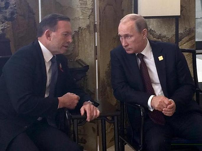 Thủ tướng Úc Tony Abbott hội đàm với ông Putin tại Hội nghị APEC