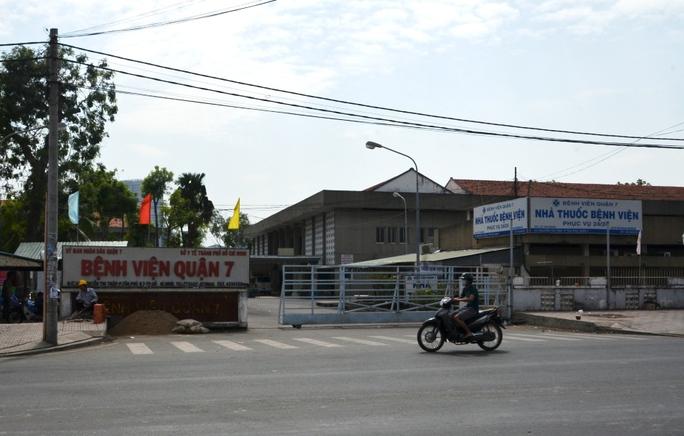 Bệnh viện quận 7 – TP HCM, nơi xảy ra vụ bắt cóc trẻ sơ sinh vào sáng 8-1.