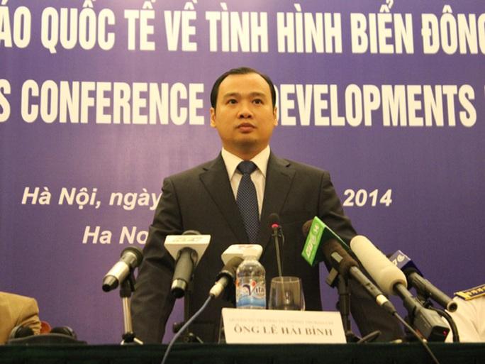 Ông Lê Hải Bình bác bỏ những vu cáo và xuyên tạc của phía Trung Quốc thời gian qua