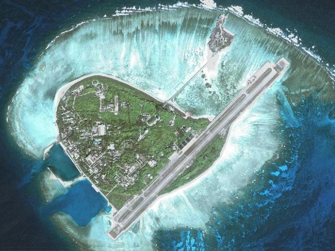 Hình ảnh đảo Phú Lâm thuộc chủ quyền của Việt Nam đang bị Trung Quốc chiếm đóng trái phép