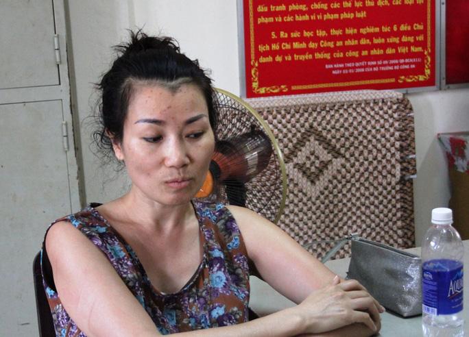 Hoàng Như Nguyệt tại Công an quận 7 – TP HCM.