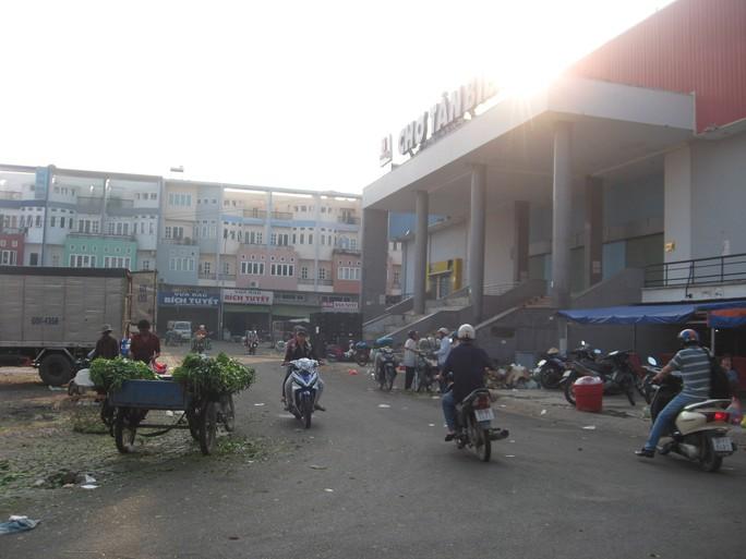 Khu chợ Tân Biên nơi xảy ra vụ việc náo loạn