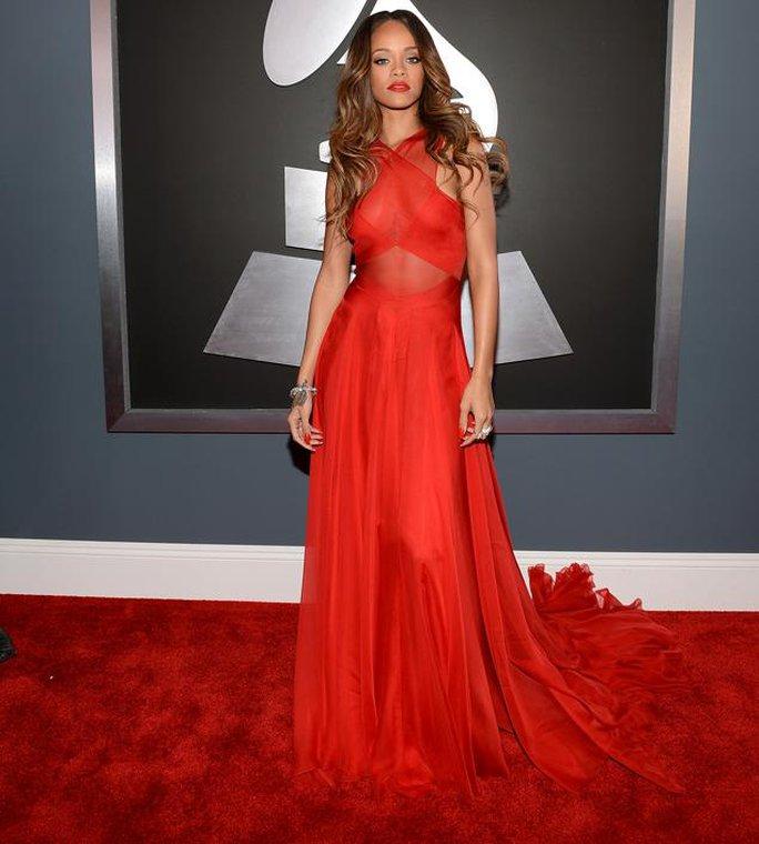 Rihanna tại lễ trao giải Grammy. Ảnh: WireImage