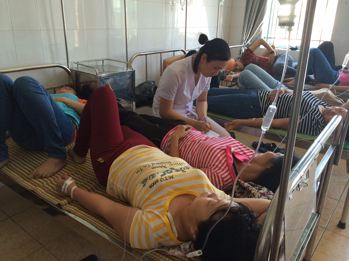 Các công nhân đang được điều trị tại bệnh viện