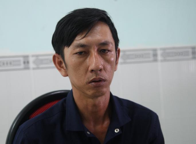 Trương Văn Huệ tại Công an huyện Nhà Bè – TP HCM, vào sáng 29-5.