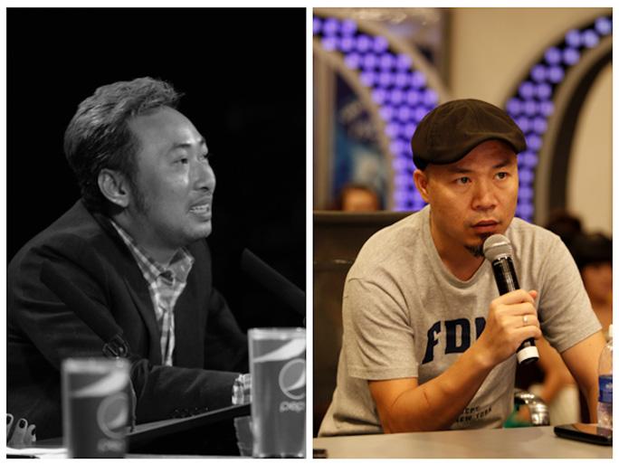 Nhạc sĩ Huy Tuấn (phải)sẽ thay Quang Dũng trên ghế nóng