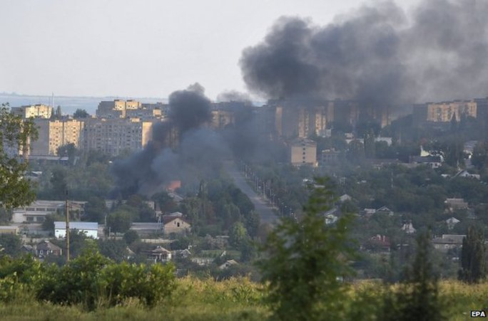 Cuộc đụng độ giữa lực lượng chính phủ và phe ly khai vẫn tiếp diễn hôm 31-7. Ảnh: EPA