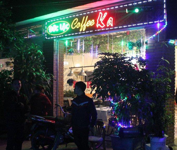 Quán karaoke nơi xảy ra vụ nổ súng.