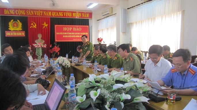 Công an tỉnh Quảng Trị đã tổ chức họp báo công bố kết quả điều tra vụ tiêm vắc xin làm 3 trẻ sơ sinh tử vong