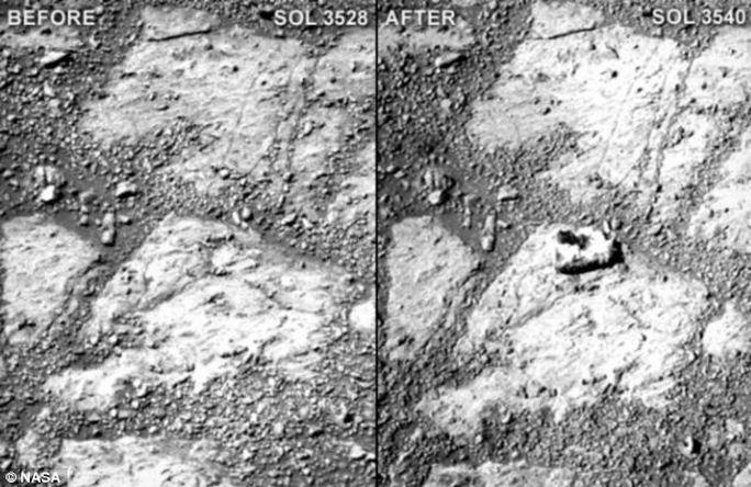 Hòn đá bí ẩn trên sao Hỏa khiến NASA đau đầu