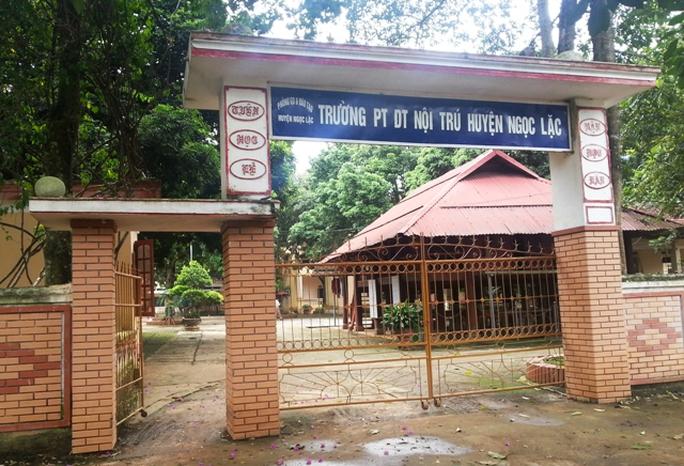 Trường THCS Dân tộc nội trú Ngọc Lặc nơi để xảy ra nhiều sai phạm