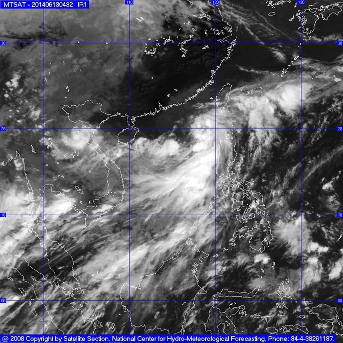 Do ảnh hưởng của áp thấp nhiệt đới, vùng biển phía Đông Bắc biển Đông có gió mạnh cấp 6, giật cấp 7, cấp 8; biển động.
