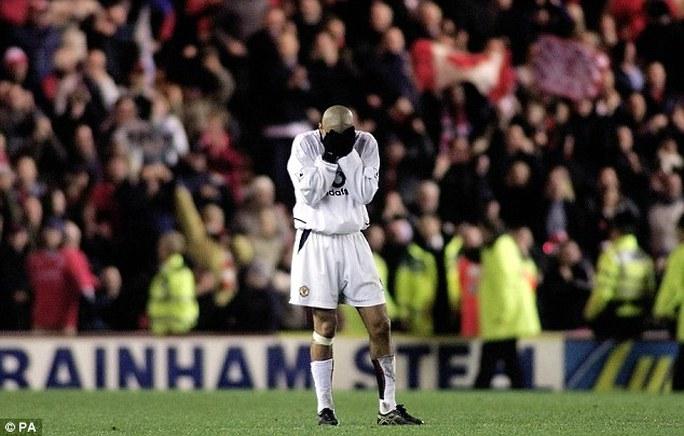 Juan Sebastian Veron một trong những người chứng kiến thất bại của M.U dịp Boxing Day năm 2002
