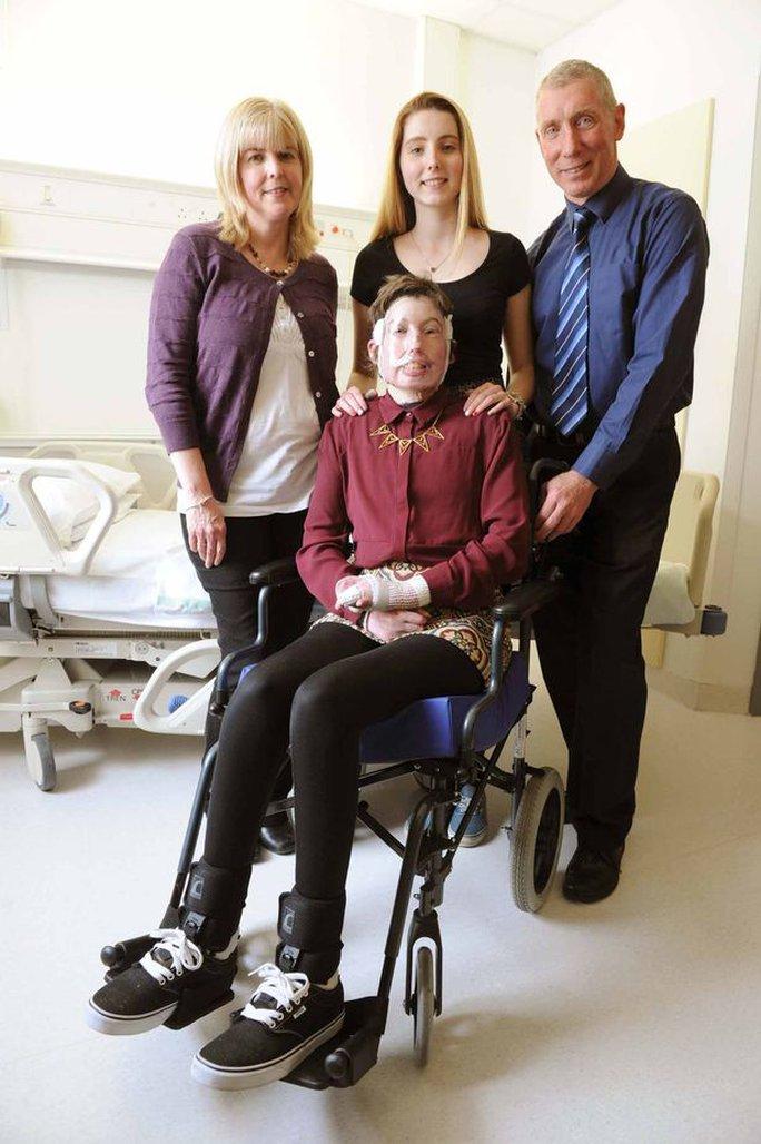 Gia đình là động lực giúp Pugh vượt qua những cơn đau