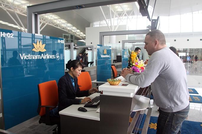 Các hành khách hạng thương gia có khu vực riêng làm thủ tục check-in nhanh chóng