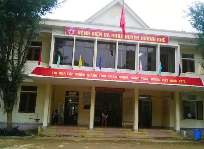 BV Đa khoa Hương Khê, nơi xảy ra sự việc