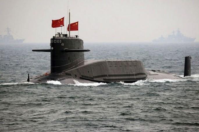 Một chiếc tàu ngầm tên lửa đạn đạo hạt nhân Xia của Trung Quốc. Ảnh: AP
