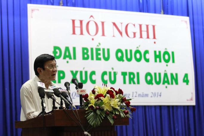 Chủ tịch nước Trương Tấn Sang nói: Tham nhũng không đứng riêng lẻ mà hình thành nhóm để bao che cho nhau