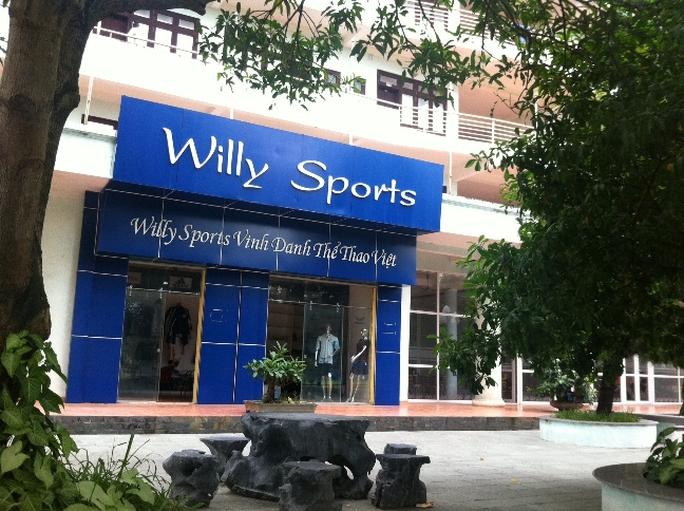Công ty Willy Sports bị tố làm giả giấy tờ để trúng thầu. Ảnh: Mai Linh