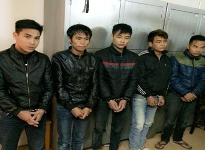 Các đối tượng trong ổ nhóm trộm sưa